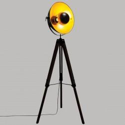 Lampadaire parabole trépied H162cm LAHTI, VINTAGE LOFT - Noir