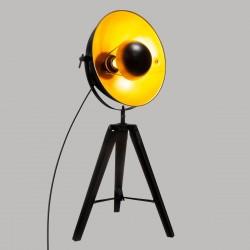 Lampe parabole sur trépied H71cm LAHTI, VINTAGE LOFT - Noir