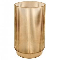 Vase cylindre en verre H25cm SLOW TIME - Caramel