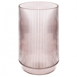 Vase cylindre en verre H25cm SLOW TIME - Rose