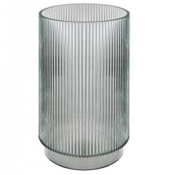 Vase cylindre en verre H25cm SLOW TIME - Gris