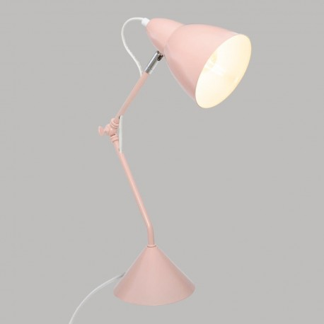 Lampe en métal H62cm AUDE, SOUTH BAY - Rose