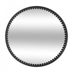 Miroir rond en métal D70cm MARY - Noir