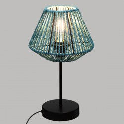 Lampe corde H34cm JILY, JUNGLE POP - Bleu