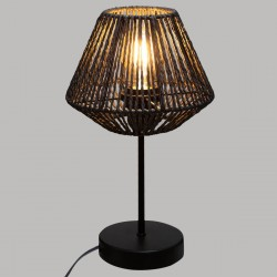 Lampe corde H34cm JILY, JUNGLE POP - Noir