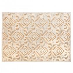Tapis à relief à motifs feuilles 160X230cm - Beige