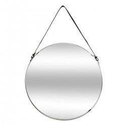 Miroir rond en métal D38cm BELT - Noir