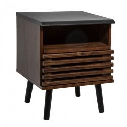 Table de chevet à porte ASMAR - Marron