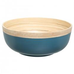 Saladier en bambou D30cm OUTLAND - Bleu