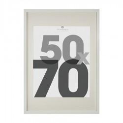 Cadre photo en bois 50X70cm EVA - Blanc