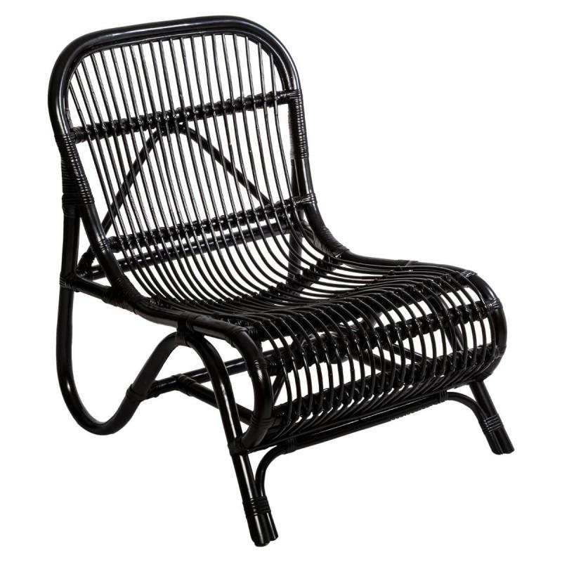 fauteuil en rotin tamara jungle pop noir veo shop