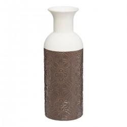 Vase bouteille H25cm RITUALITY - Marron gris