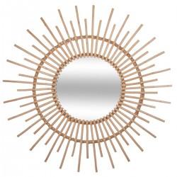 Miroir soleil en rotin D76cm JUNGLE POP - Beige