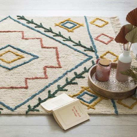 Tapis tufté en coton 120X170cm ETHNICOLOR - Multicolore