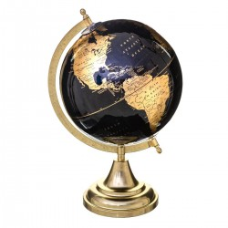 Globe terrestre doré H33cm JUNGLE AFRICA - Noir