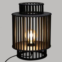Lampe en bambou H35cm SLOW TIME - Noir