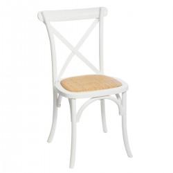 Chaise bistrot ISAK, POÉSIE À L'ANGLAISE - Blanc