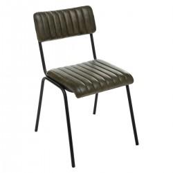 Chaise en cuir DARIO, VINTAGE LOFT - Duck