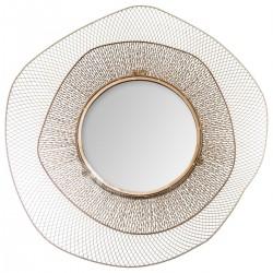 Miroir en métal D78cm JELLYFISH - Doré