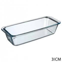 Plat quatre-quart en verre 31X12cm - Transparent