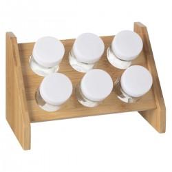 Présentoir à 6 pots à épices - Bambou