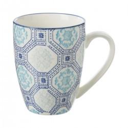 Mug 34cL motif octogone AL ZULA - Bleu