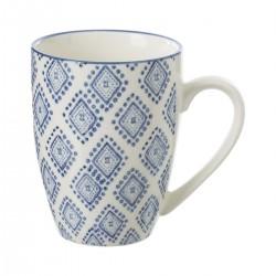 Mug 34cL motif losange AL ZULA - Bleu