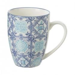 Mug 34cL motif carré AL ZULA - Bleu