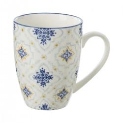 Mug 34cL motif fleurs AL ZULA - Bleu