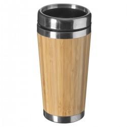 Mug isotherme en véritable bambou et inox 38cL - Beige foncé