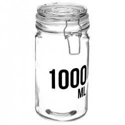 Bocal en verre capacité 1000mL - Transparent
