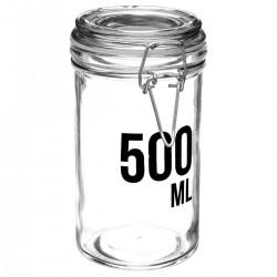 Bocal en verre capacité 500mL - Transparent
