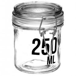 Bocal en verre capacité 250mL - Transparent
