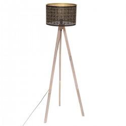 Lampadaire sur trépied H149cm ROMANCE GYPSY - Noir intérieur doré