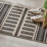 Tapis à motifs rayures 60X90cm ALLURE ETHNIQUE - Écru et gris
