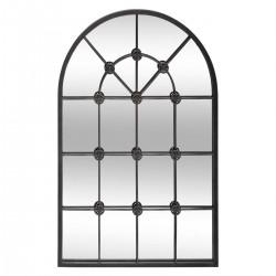 Miroir en métal 110X70cm FLOWER FACTORY - Noir