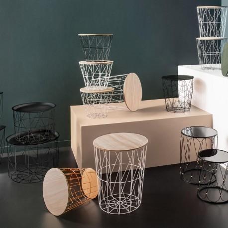 Table à café en métal  grand modèle KUMI - Blanc