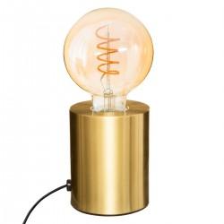 Lampe tube en métal H10cm SABA - Doré