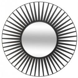 Miroir soleil en métal D50cm - Noir