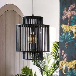 Suspension en bambou H45,5cm SLOW TIME - Noir