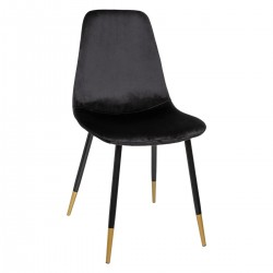Chaise en velours TYKA, TO FEEL GOOD - Noir