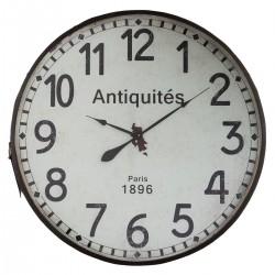 Pendule à contour ceinture en cuir D92cm, ESPRIT RÉCUP