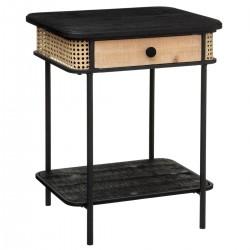 Table de chevet ARBELA - Noir et bois