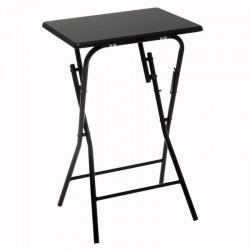 Table pliante 48X38cm BASIC - Noir