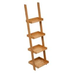 Étagère échelle à 4 niveaux en bambou SICELA - Bambou