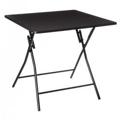 Table pliante 80X80cm BASIC - Noir
