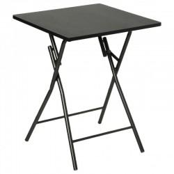 Table pliante 60X60cm BASIC - Noir
