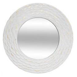 Miroir rond D80cm FOIL - Blanc et doré