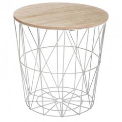 Table à café métallique KUMI - Gris