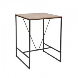 Table de bar EDENA, VINTAGE LOFT - Marron